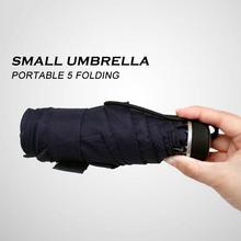 Buy Ultra Small Five Folding Umbrella Rain Men Women Simple Sunny Rainy Umbrellas Windproof 2 Color Portable Parasol for $15.99 in AliExpress store