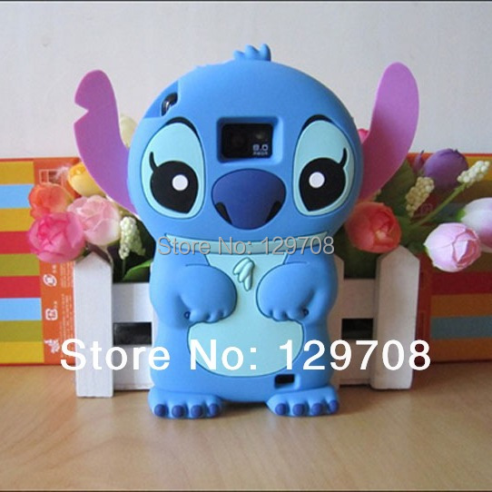 Lilo 3D Cartoon Stitch Soft Silicone Silicon Case Cover Samsung Galaxy S2 SII i9100 - Huaqiang On Line store