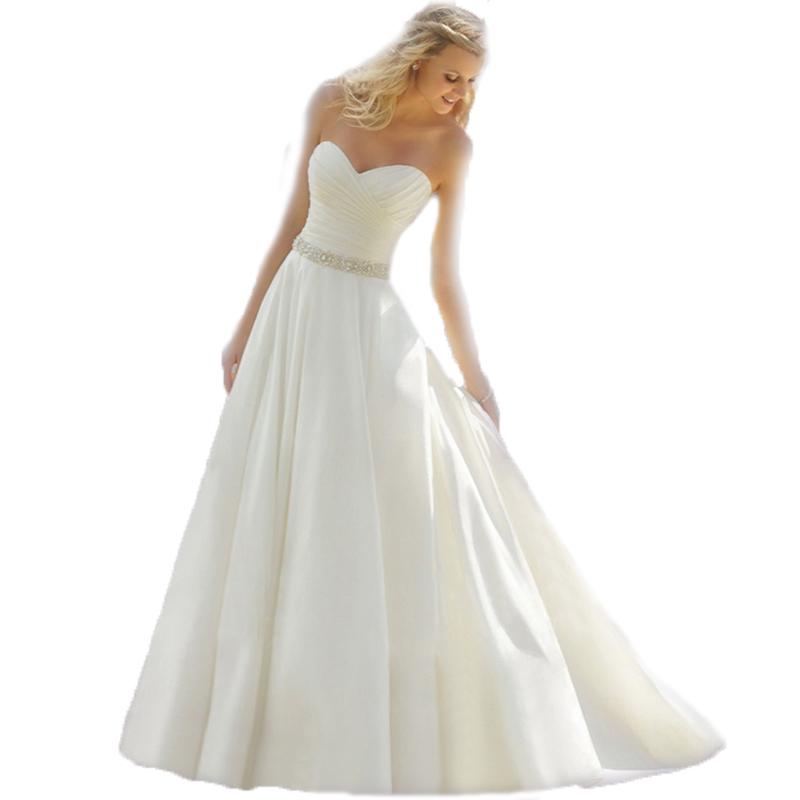 Vnaix IW013 In Stock Sweetheart Satin With Ruffle Cheap Sexy Long And Short Alibaba Wedding Dress 2014(China (Mainland))