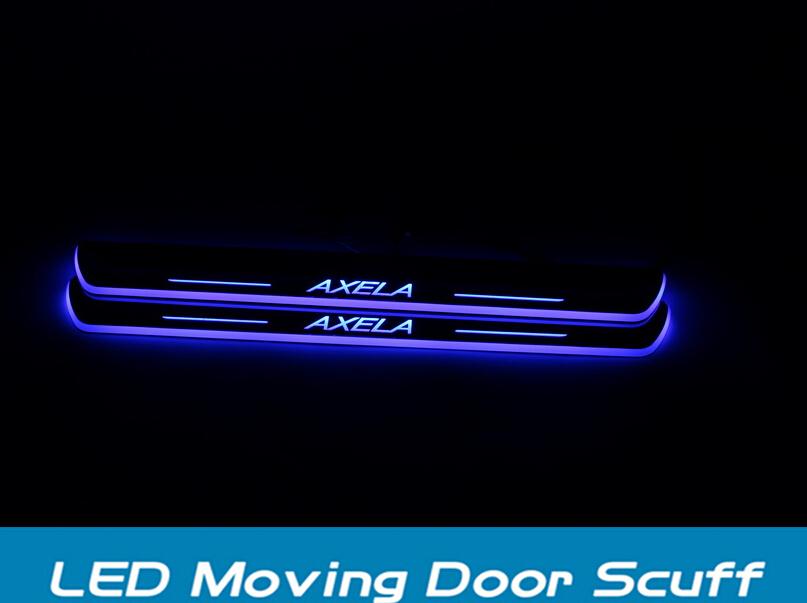 Mazda3 Axela High quality LED MOVING DOOR SCUFF led door sill plate for Mazda3 Axela