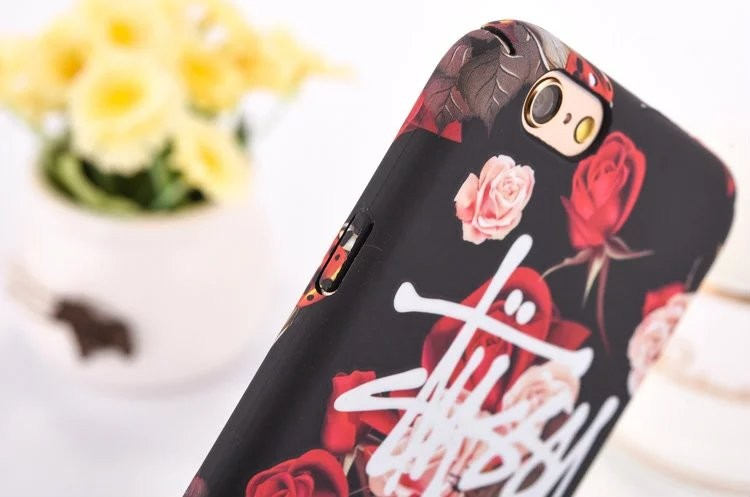 New Fashion Flower Luminous Stussy Case Cover For iPhone 6 6s 4.7″ 6Plus 6s Plus 5.5 Inch Phone Case New York Los Angeles