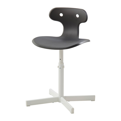 1 piece grey colour plastic seat steel base office lift chair(China (Mainland))