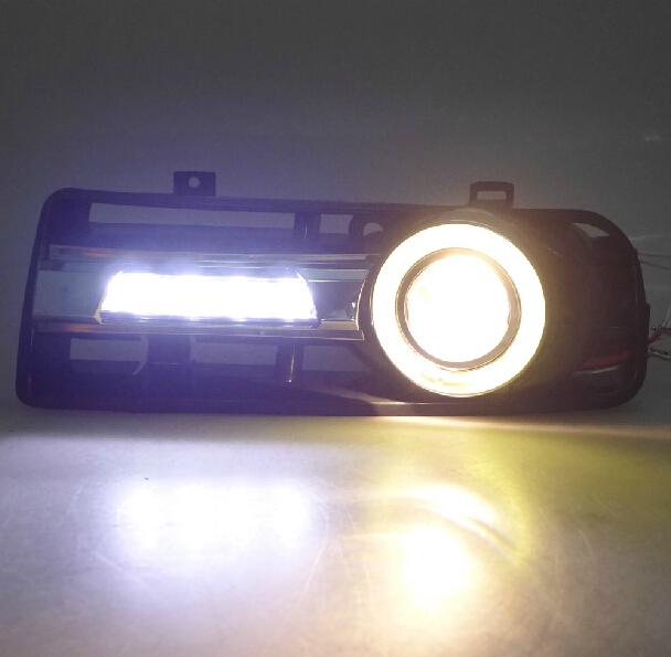 1998-2005 VW Golf 4 MK4 led drl daytime running light + halogen fog lamp + led angel eyes
