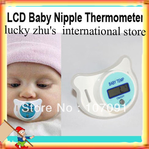 2013 new 5 pcs Brand New LCD Digital Infant Baby Temperature Nipple Thermometer + Free Shipping