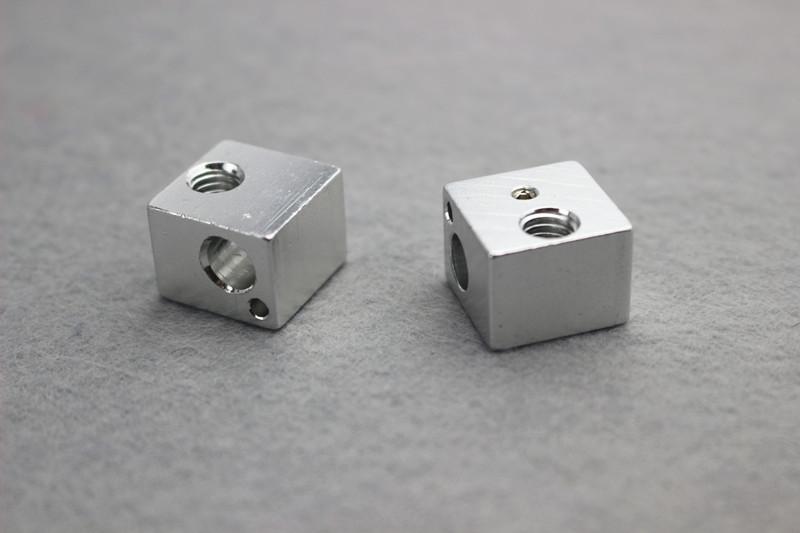 Hot sale Aluminum heat Block for kossel delta 3D Printer accessories Extruder Hot End 16 16
