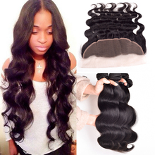 Ear To Ear Lace Frontal Closure With Bundles Peruvian Virgin Hair Body Wave With Closure Human Hair Lace Frontals With Baby Hair(China (Mainland))