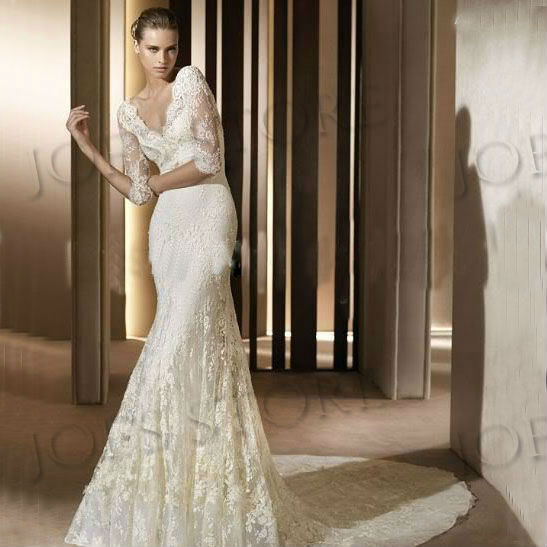 2014 hot sale ftee shipping custom classic vintage lace for Vintage wedding dresses sale