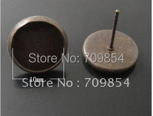 free ship copper earring  needle 10/12/14mm earring needle+back earring  stoppers(China (Mainland))