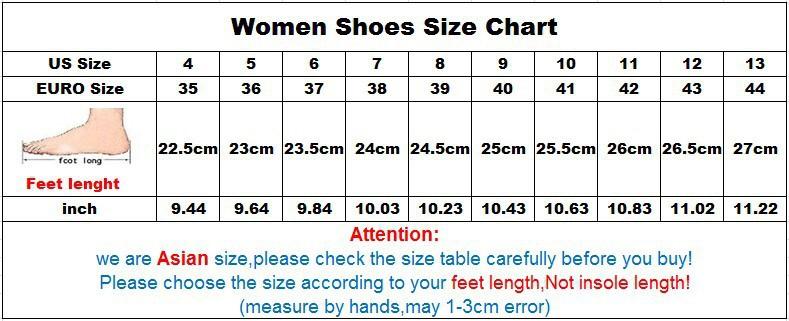 women shoe size chart gaga