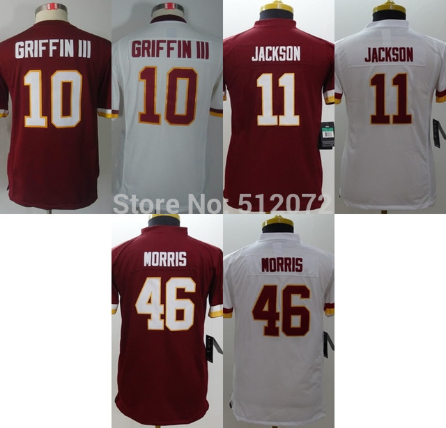 Kids Youth Authentic #10 Robert Griffin III #11 DeSean Jackson #46 Alfred Morris Football Jersey