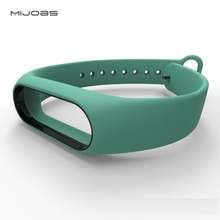 Buy Mijobs High Dual Color Silicone Bracelet Strap Xiaomi Mi Band 2 Multicolor Rreplacement Bands Xiaomi Band 2 for $3.18 in AliExpress store