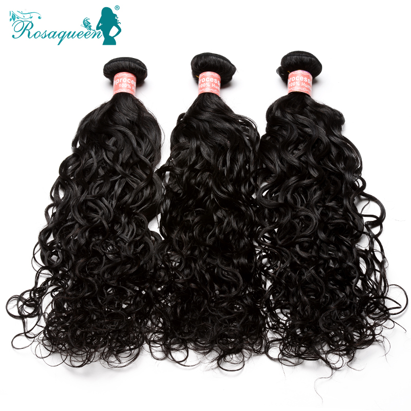 Rosa Hair Products Wet And Wavy Peruvian Virgin Hair Extensions 3Pcs/Lot Unprocessed 5A Peruvian Water Wave Virgin Hair Weaves<br><br>Aliexpress