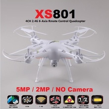 2015 New XS801C Quadcopter 6 Axis Gyro Headless Mode RC Drone With 5MP or 2MP HD Camera or Without Camera Helicopter VS SYMA X5C(China (Mainland))