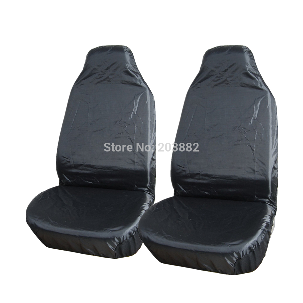 2pcs front waterproof nylon car van auto vehicle seat cover protector free shipping universal in. Black Bedroom Furniture Sets. Home Design Ideas