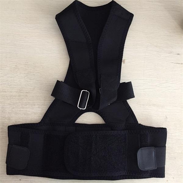 Adjustable Spine Stretch Magnetic Support Elastic Posture Belt Neoprene Shoulder Back Brace Upper Posture Support(China (Mainland))