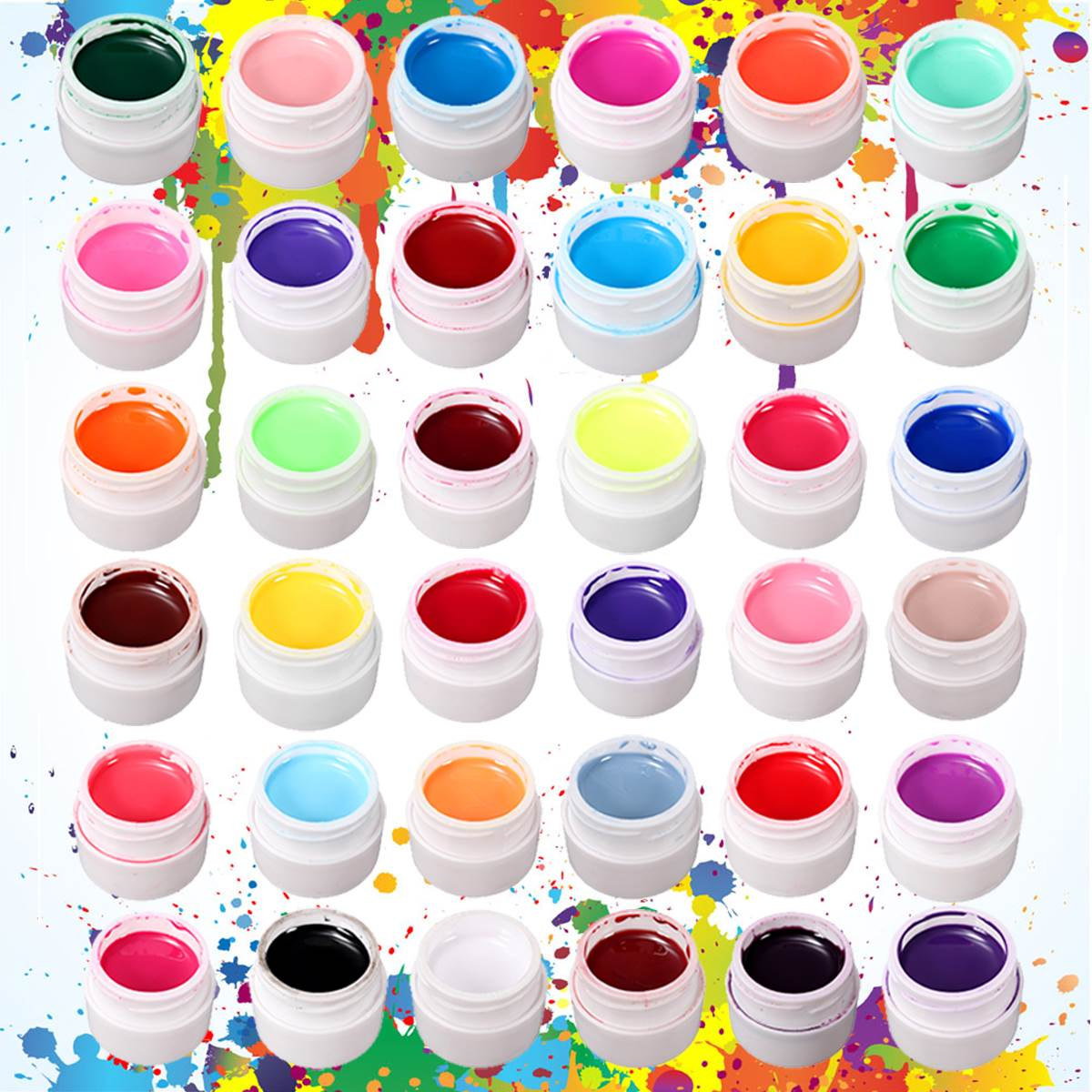 1Pot Nail Art Decor UV Gel Nails Polish Excellent Gel Manicure Tools 19 Pure Color Hot Selling(China (Mainland))
