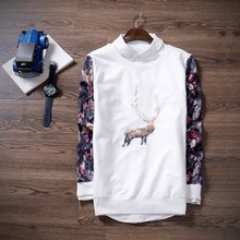 new 2015 fashion winter warm men ugly christmas deer sweatershirt crewneck long sleeve reindeer Pullover Xmas Men hoodies