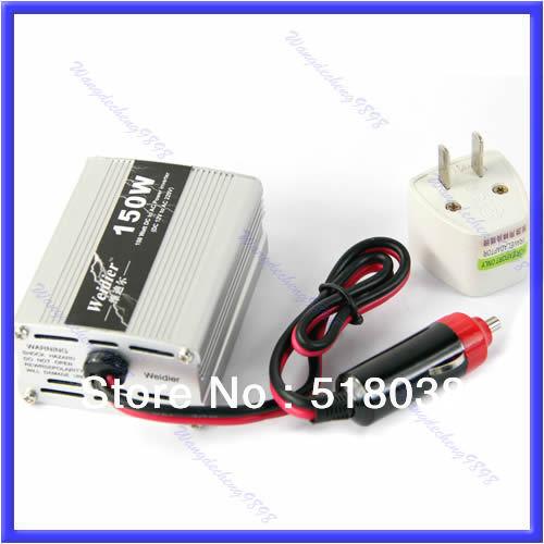 New 150W DC 12V to AC 220V Auto Car Inverter USB Power Supply Adaptor Converter(China (Mainland))