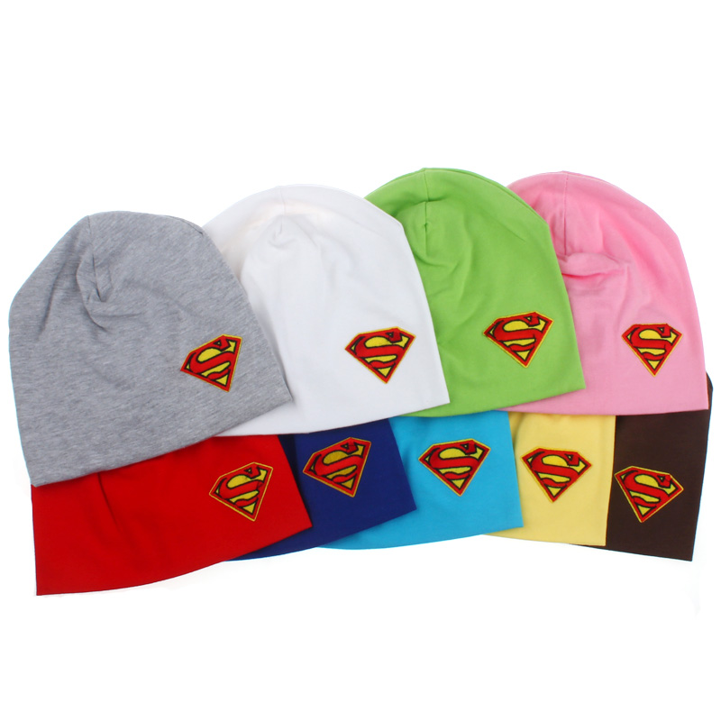 Cotton Toddler Unisex Cap Hats Newborn Beanies Baby Infant Soft Cute Toddler Kids Cap Superman Baby Hat SW118(China (Mainland))
