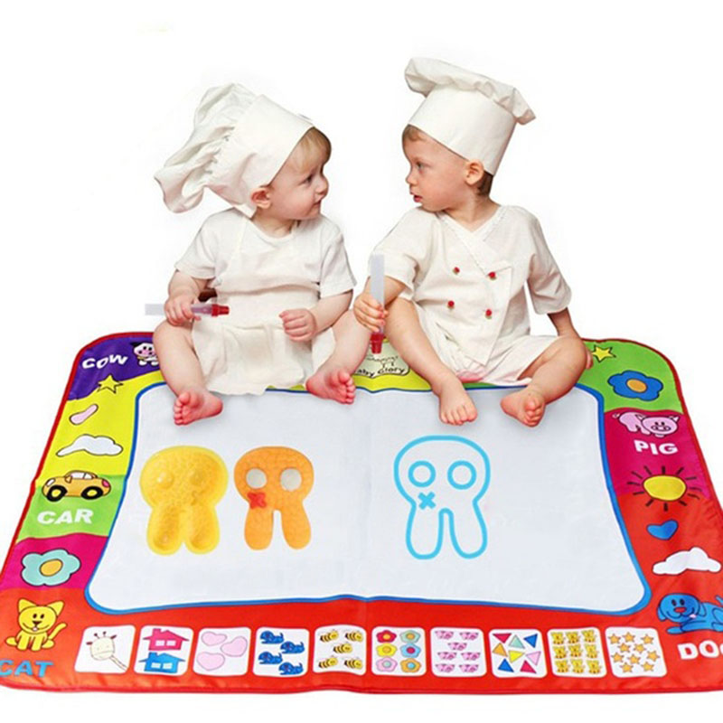 Hot Sale 78 x 58cm Water Drawing Painting Writing Mat Board Magic Cloth Pen Doodle Aquadoodle Toy(China (Mainland))