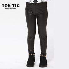 TOK TIC kids legging girl pants child legging infantil skinny black kid leather pants girl legging baby pants(China (Mainland))