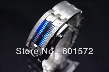 1pcs/lot Freeshipping led digital movement alloy metal band male's military watch