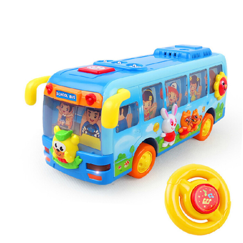 Lovely Children Happy School Bus Shaking Diecast Model Kids Educational Battery Operated Toys Free Shipping 908 Baby Toys(China (Mainland))