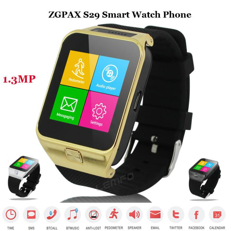ZGPAX S29 Bluetooth Smartwatch Smart Watch Phone 1.3MP 1.54'' GSM Sync Call Android Mate For IOS Phones Samsung S5 HTC 2015 New(China (Mainland))