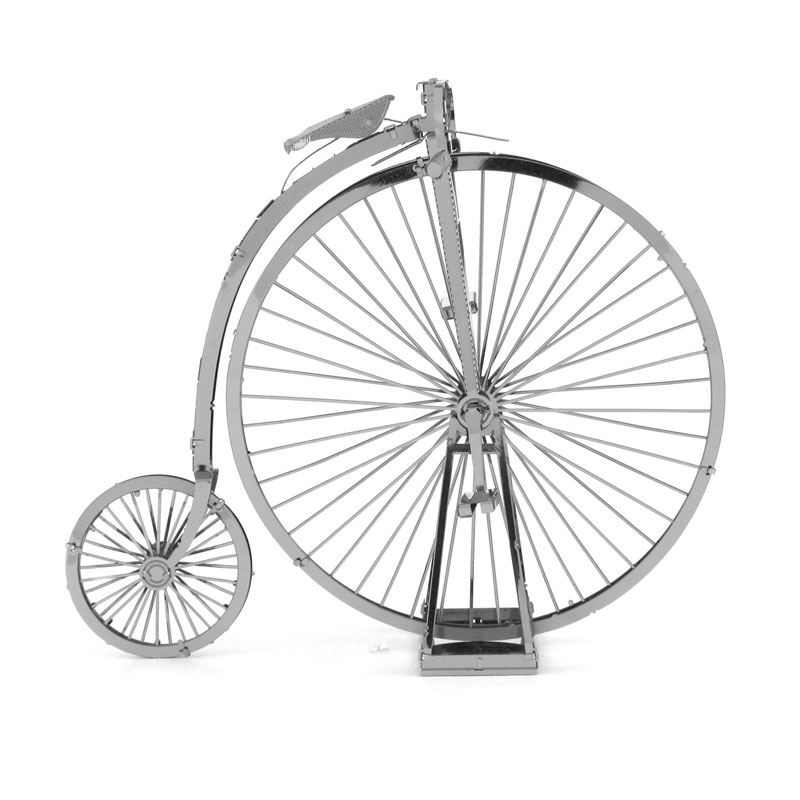 Old Fashion Bike Building Model Kits Silver Model Toys DIY Laser Cutting Jigsaws Gifts 3D Metal Puzzles Educational Model(China (Mainland))