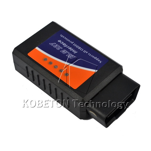 Оборудование для диагностики авто и мото KE 2015 327 Bluetooth ELM327 OBD2 OBD II CAN v1.5 Bluetooth 9004 9007 male to female wire harness sockets extension cable for car headlamp foglight