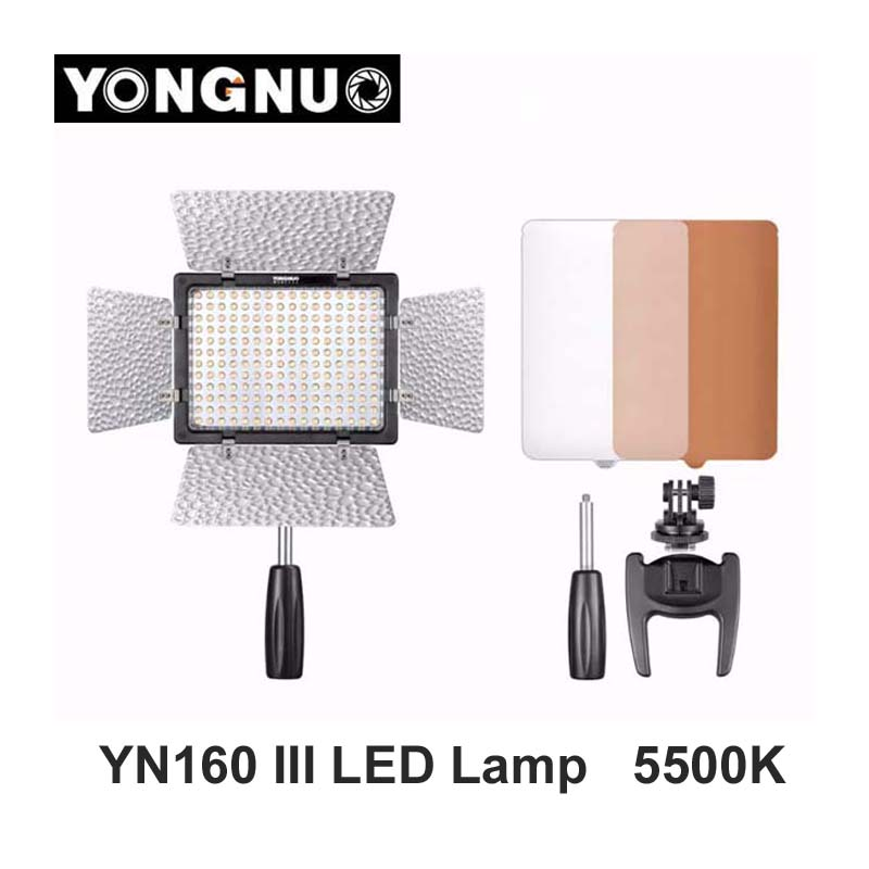 Фотография Yongnuo YN160 III 5500K CRI95 160 LED Adjustable Luminance Video Light for Canon Nikon Sony DSLR & Camcorder