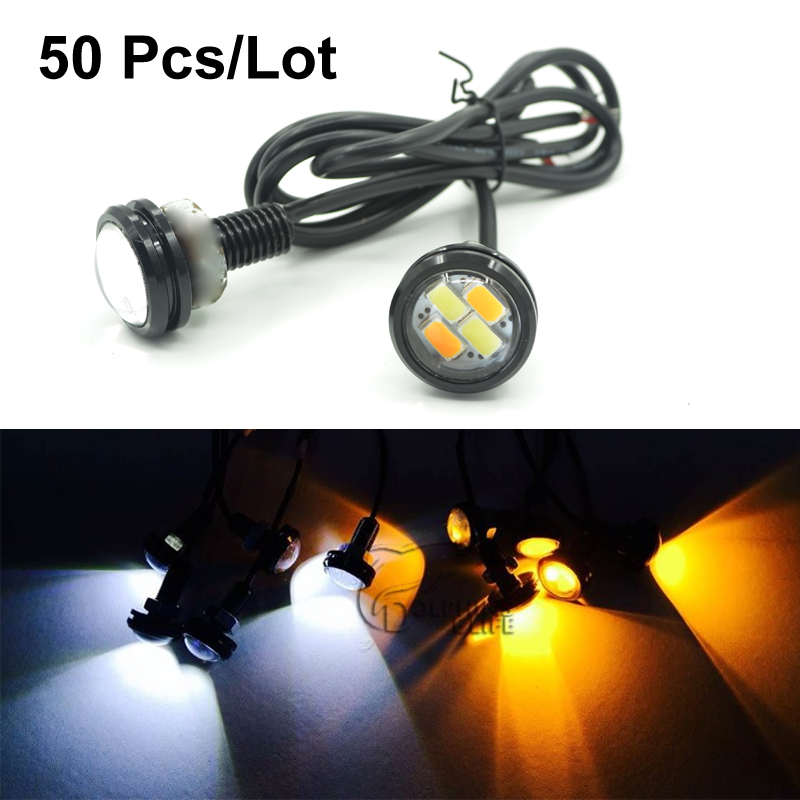 50pcs/lot 23mm 5630 Car styling LED DRL Eagle Eye Daytime runing lights Warning Fog lights with turning signal Newest<br><br>Aliexpress