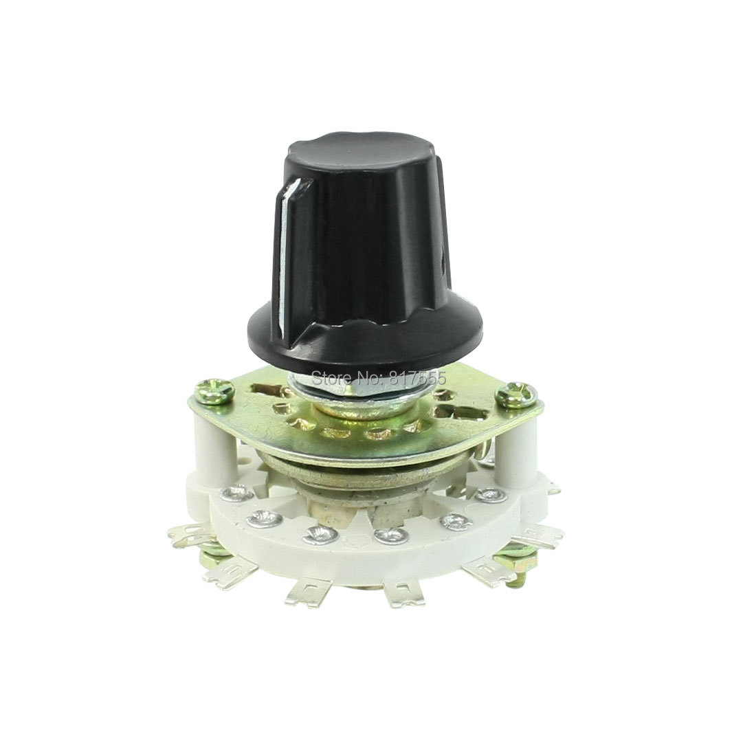 Plastic Knob 1 Pole 6 Throw Band Channel Rotary Switch Selector(China (Mainland))