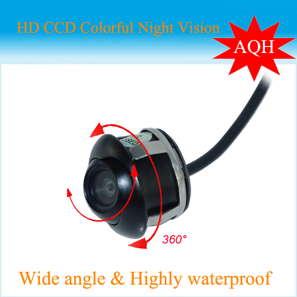 New Promotion CCD 360 Car Front / Side / Rear View Reverse Camera Universal For all Car Models Free Shipping(China (Mainland))