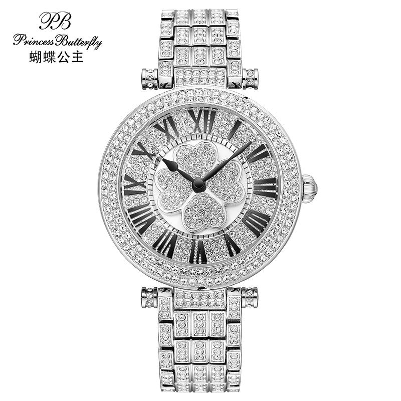 PB Fashion Watch Women Dress Quartz-Watch Causel Rotatable Dial Wristwatch Waterproof Female Luxury Diamond Ladies Watch HL642(China (Mainland))