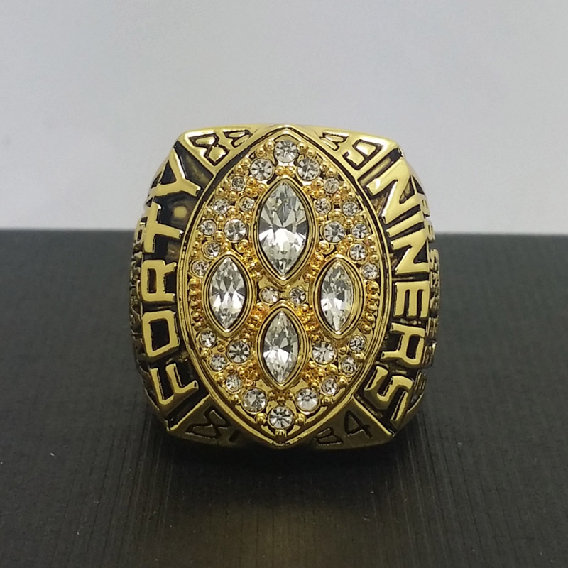 NFL 1989 San Francisco 49ers Football Super Bowl World Championship Ring 11Size 'Montana' Fans Solid Back Gift Collection - ring store