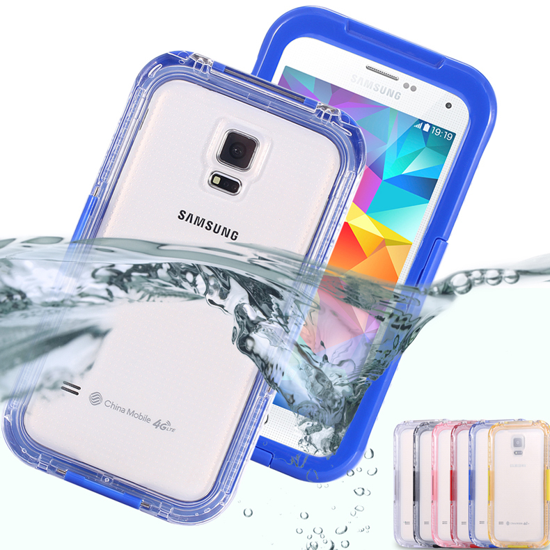 Waterproof Swim Surfing Case For Samsung Galaxy S3 / S4 / S5 i9300 i9500 i9600 Clear Front & Back Cover Accessories Diving Capa(China (Mainland))
