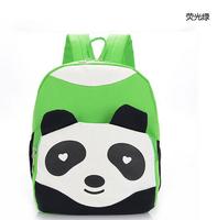 1pcs/lot free shipping hot sale fashion cartoon Cute small kung fu panda shape children canvas school bags kids backpack