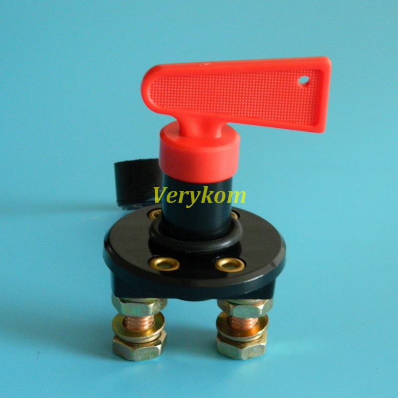 Free Shipping Universal 12v /24v Battery Isolator Disconnect Power Kill Disconnect Switch With Key Cover(China (Mainland))