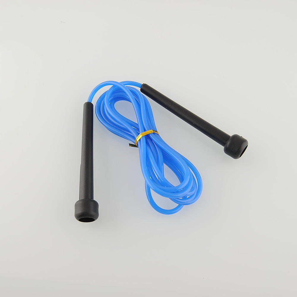 2.5M Skipping Jump Fast Speed Rope Jumping For Training Workout Exercise Fitness Boxing Lose Weight Calorie Blue Plastic(China (Mainland))