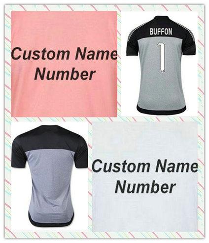 A+++ Top thai 1# BUFFON 6# POGBA 9 MORATA TEVEZ White Black Strip pink 2015-2016 23# VIDAL PIRLO Soccer Jersey EVRA Full Shirt(China (Mainland))
