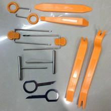 12Pcs/Set Plastic Car Radio Door Clip Panel Trim Dash Audio Removal Pry Repairing Tool(China (Mainland))