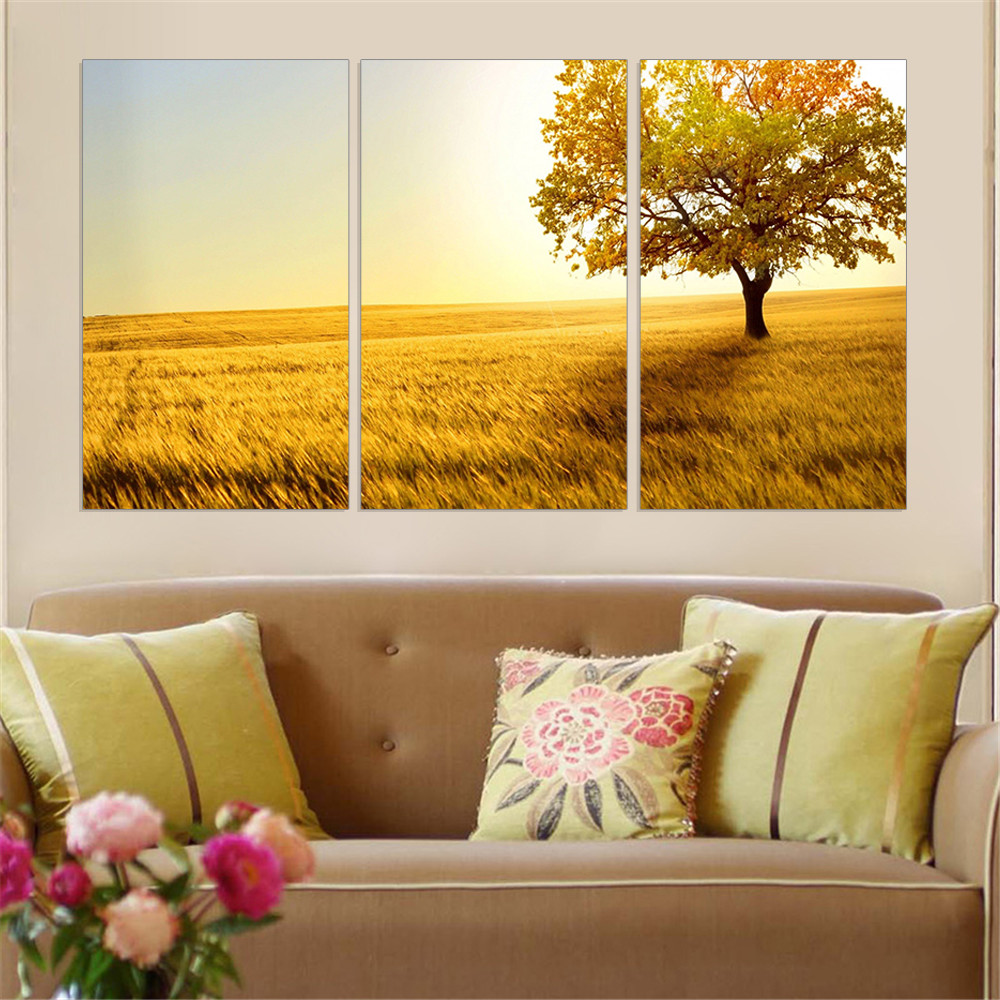 New Modular Canvas Painting Tree Landscape Posters and Prints HD Art Scenery Oil Picture Modern Wall Decoration No Frame 3pcs