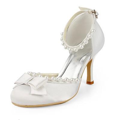 Hot fashion shoes wedding bridal prom satin bow 8CM fish head high heels 1712 Miss Gao Genxie order(China (Mainland))