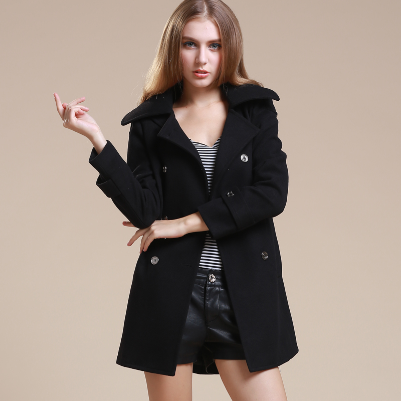 Women Pea Coat Photo Album - Reikian