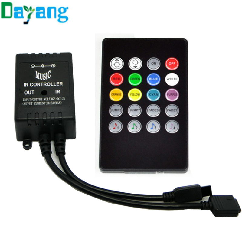 2016 Durable LED Music IR Controller DC 12V 20 Keys IR Remote Controllers for 3528 5050 2835 RGB LED Strip Light Mini Controller(China (Mainland))