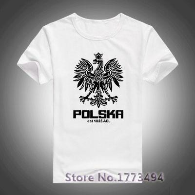 Polska Polish Dance Soccer Poland Football T-shirts Men Cotton Fashion T Shirts Short Sleeve Plus Size Casual Tshirts Loose(China (Mainland))