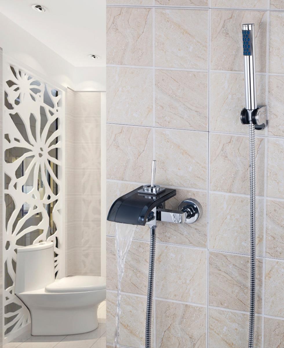 Promoci n de ba era de ducha de cristal compra ba era de for Manija para ducha