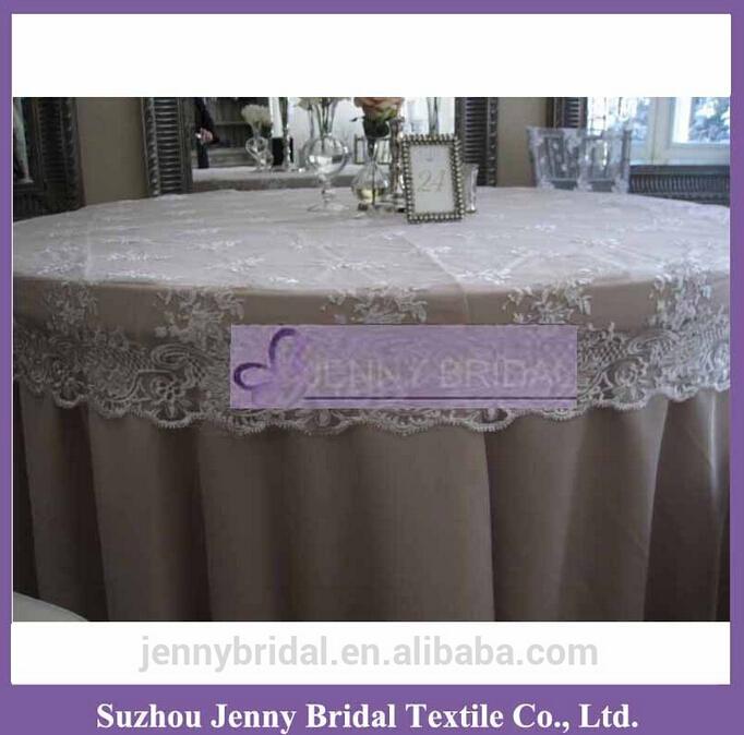 "TC002R2C Elegant Lace Tablecloth Wedding Table Cap 60"" round droping 15cm(China (Mainland))"