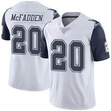 Men's #20 Darren McFadden Elite White Rush Football Jersey 100% stitched(China (Mainland))